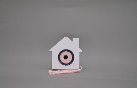 Μπομπονιέρα ξύλινο σπίτι με μάτη