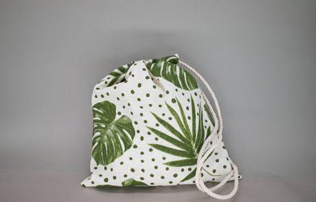 Μπομπονιέρα σακίδιο πλάτης με θέμα tropical-jungle