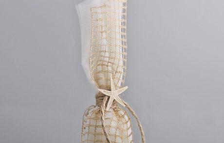 Μπομπονιέρα τούλινη με δίχτυ και αστερία